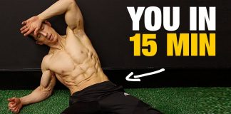15 Minute Fat Burning Home Workout (NO EQUIPMENT!)