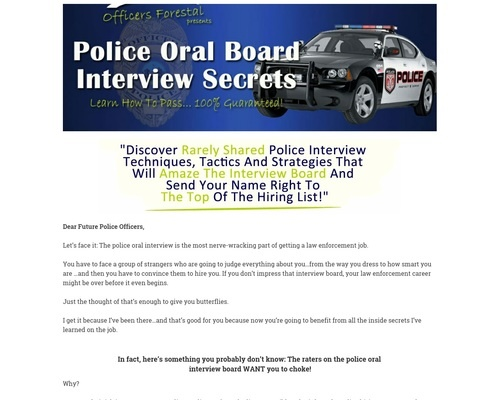 Become A Cop Interview Study Guide: Converting Very Well
