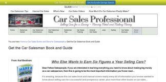 Car Salesman Book and Guide