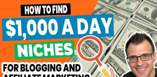 How To Find A Niche For Affiliate Marketing And Blogging