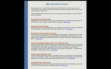 SIM Startup Infoproducts