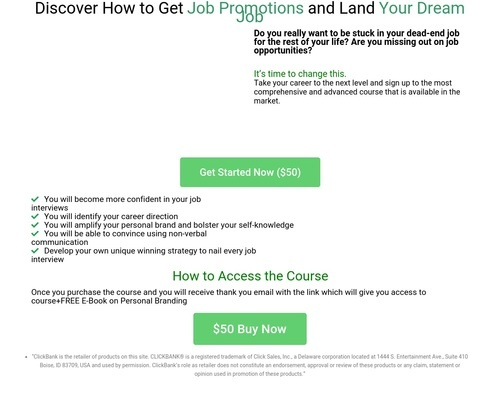 E-course on how to ace any job interviews+E-Book on Personal Brand   My Maxims