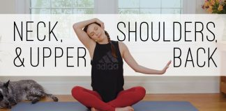 Yoga For Neck, Shoulders, Upper Back  -  10 Minute Yoga Quickie  -  Yoga With Adriene