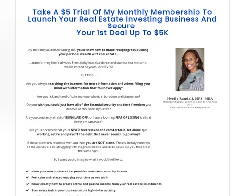 Monthly Sale | Real Estate Investing Success | Noelle Randall