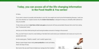 Food, Health, & You - Live Longer, Prevent & Reverse Illness