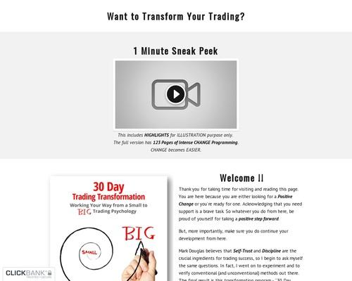 Trading Transformation — 30 Day Trading Transformation