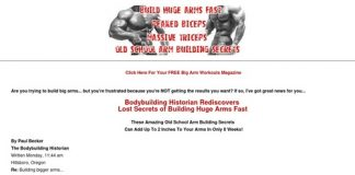Build Huge Arms Fast with Old School Arm Building Workouts