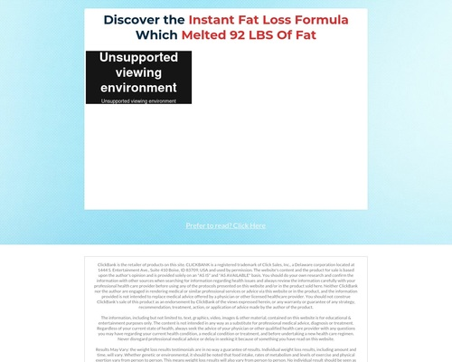 Instant Fat Loss Formula