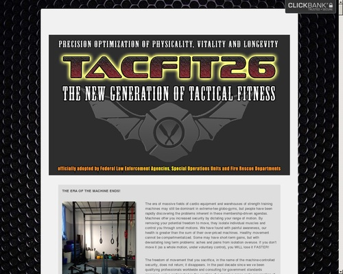 Tacfit 26: New Generation. The Tactical Fitness Personal Gym System.