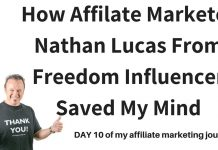 How Affiliate Marketer Nathan Lucas From Freedom Influencer Saved My Mind