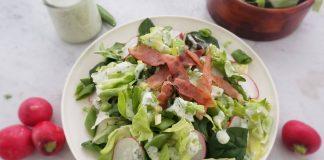 Spring Greens Salad With Crispy Prosciutto