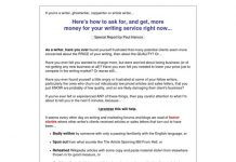 Write To More Money - Freelance Writing Report Pays 50