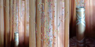 Cara mudah membuat Bunga Ulir penghias sudut ruangan dan vas bunga II DIY