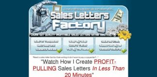 Can't Write?! Watch This Video NOW To See Sales Letters Factory In Action!