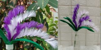 DIY Ribbon Flower and Vases from Bottle (Bunga Pita Satin dan Vas Bunga dari Botol)