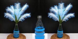 Tutorial Bunga Hias dari Pita Satin dan Vas Bunga dari Botol Kaca | How to make reeds with ribbon