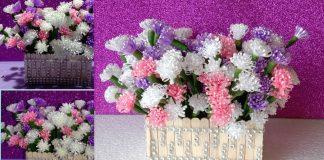 Tutorial vas bunga dari stik es krim dan juga bunga dari pita plastik