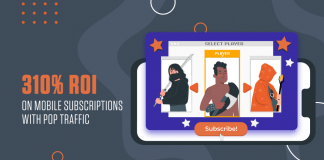 310% ROI on Mobile Subscriptions with Pop Traffic